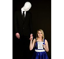 Slender Man and friend cosplay Photographic Print