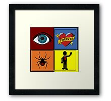 I Love Spider Man (TWO) Framed Print