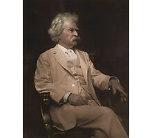 Mark Twain Colorized Photographic Print