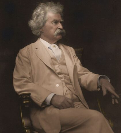 Mark Twain Colorized Sticker
