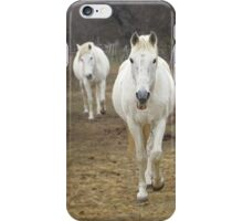 The white horses of the Camargue. iPhone Case/Skin