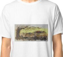 Ayers Rock splatter painting Classic T-Shirt