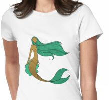 Mermaid Series - Wistful Womens Fitted T-Shirt