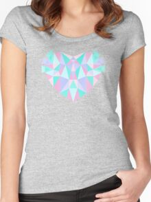 Pastel Heart Women's Fitted Scoop T-Shirt