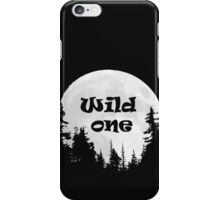 Wild One Fun Quote Moon and Trees iPhone Case/Skin