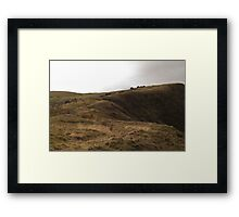 Cloudy Mountain Framed Print