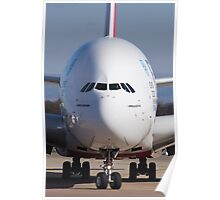 A380 Face On Poster