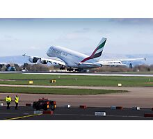 A380 Take-Off Photographic Print