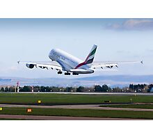 A380 Departs Photographic Print