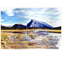 Mt Rundle - Banff, Alberta, Canada Poster
