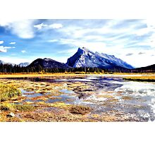 Mt Rundle - Banff, Alberta, Canada Photographic Print