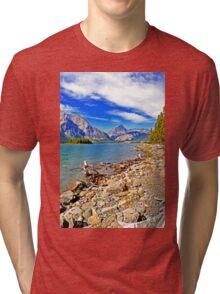 Upper Kananaskis Lake, Alberta, Canada Tri-blend T-Shirt