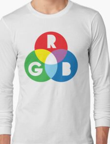 RGB Red Green Blue Colour Color Spectrum Long Sleeve T-Shirt