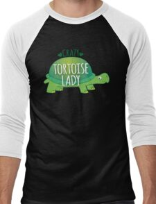 Crazy Tortoise lady Men's Baseball ¾ T-Shirt