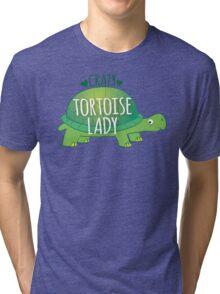 Crazy Tortoise lady Tri-blend T-Shirt