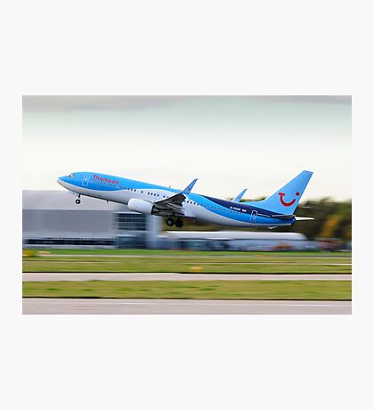 Thomson 737-800 Take-Off Photographic Print