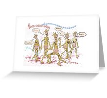 Zombie Cows Crave Brains Greeting Card