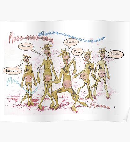 Zombie Cows Crave Brains Poster