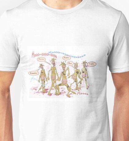 Zombie Cows Crave Brains Unisex T-Shirt