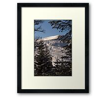 Snow on the Mountain Framed Print