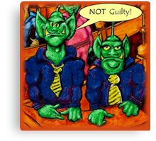 Martian Lawyer and Client Canvas Print