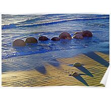 Pythagoras at the Beach Poster