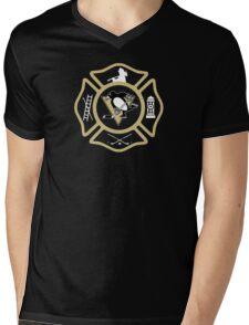 Pittsburgh Fire - Penguins style Mens V-Neck T-Shirt