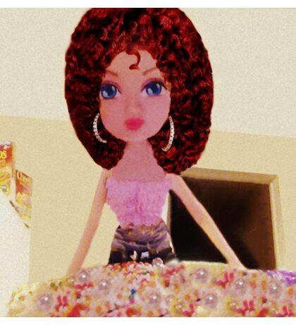CUTE DOLL BAKING CAKE KIDS APPAREL>>PILLOWS,JOURNAL,BOOKS,TOTE BAG,SKIRT,SCARF,ECT. Sticker