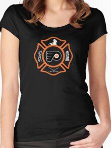 Philadelphia Fire - Flyers style Women's Fitted Scoop T-Shirt