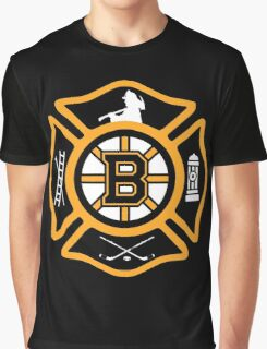 Boston Fire - Bruins style Graphic T-Shirt
