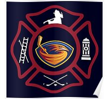 Atlanta Fire - Thrashers style Poster