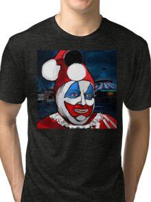 POGO the CLOWN - Serial Killer John Wayne Gacy Tri-blend T-Shirt