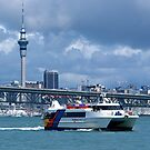 Looking across Auckland Harbour......! by Roy  Massicks