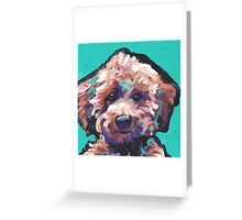 Toy Poodle Dog Bright colorful pop dog art Greeting Card