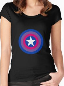 Captain Bisexual Women's Fitted Scoop T-Shirt