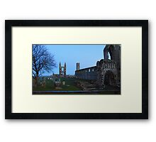 cathedral ruins st andrews taken from north st Framed Print