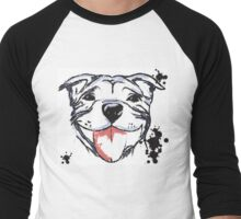 Smiling Staffy  Men's Baseball ¾ T-Shirt