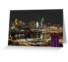 Cincinnati from Devou Greeting Card
