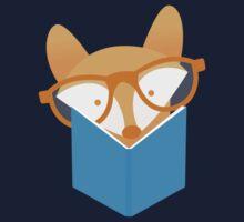 A cute foxy reading Kids Tee