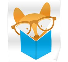 A cute foxy reading Poster