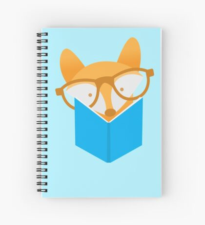 A cute foxy reading Spiral Notebook