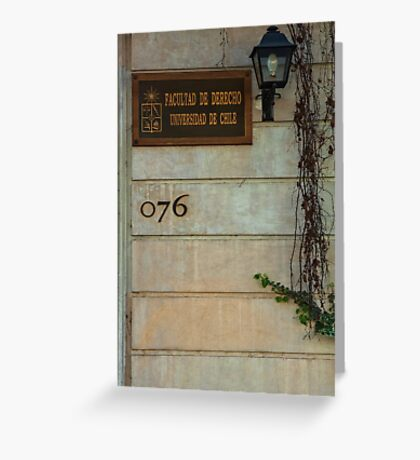 Faculty of Law - Santiago Greeting Card