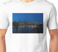 British Symbols and Landmarks - Millennium Bridge and Thames River at Low Tide Unisex T-Shirt