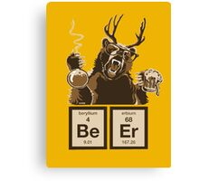 Chemistry bear discovered beer Canvas Print