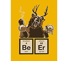 Chemistry bear discovered beer Photographic Print