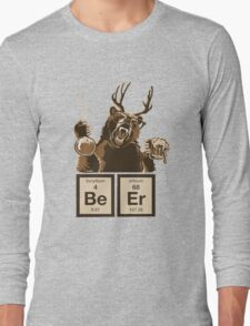Chemistry bear discovered beer Long Sleeve T-Shirt