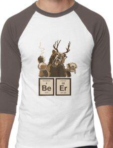 Chemistry bear discovered beer Men's Baseball ¾ T-Shirt
