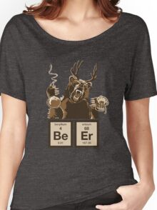 Chemistry bear discovered beer Women's Relaxed Fit T-Shirt
