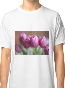 Pretty pink tulips Classic T-Shirt