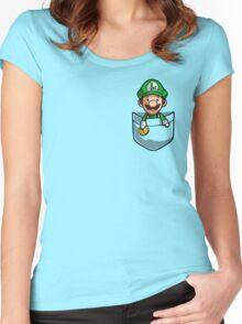 Pocket Luigi Women's Fitted Scoop T-Shirt